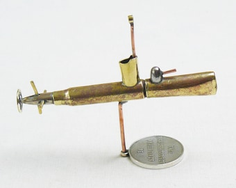 Military Trench Art Submarine Made from WW2 Shells Cartridges