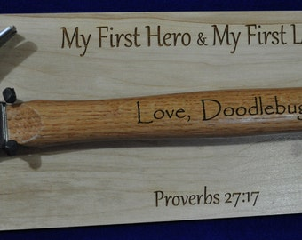 Father's Day Gift ~ Gift For Dad ~ Birthday For Dad ~ Engraved Hammer ~ Engraved Gifts For Men ~ Step Dad Gift ~ To Dad From Daughter ~ Dad
