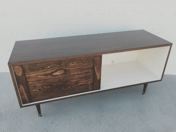 Mid Century Modern Record Player Cabinet Media Table Tv Stand