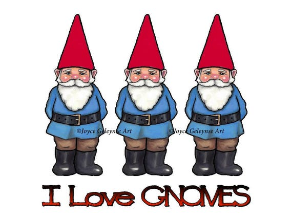 Gnome Clip Art: Gnome Clipart Hand Drawn Clipart Commercial Use OOAK