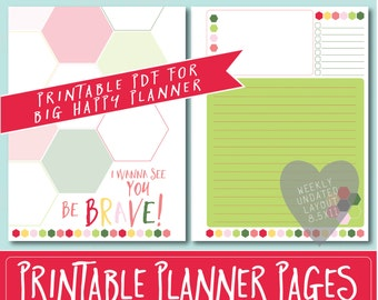 HAPPY PLANNER Printable Filler Pages | Planner Refills / BIG Inserts - 8.5x11 | Strawberry | Create 365 | Me & My Big Ideas | mambi |Undated