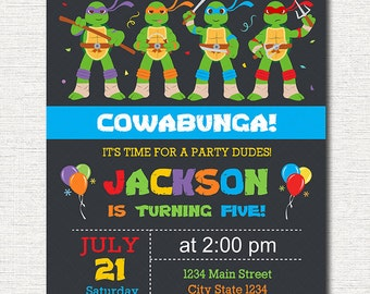 Ninja turtles birthday food table tents cards blank instant ninja turtles birthday invitation ninja turtles invite tmnt invitation printable filmwisefo Image collections