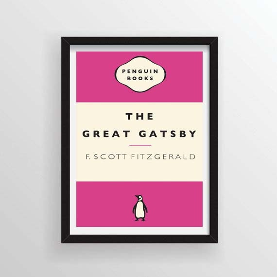 Penguin Classic Book Cover Posters : The great gatsby book cover poster penguin classics a and