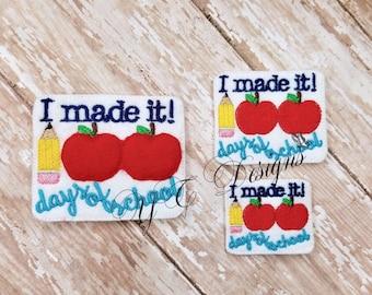 School Feltie I made it 100 days of school Feltie Embroidery File