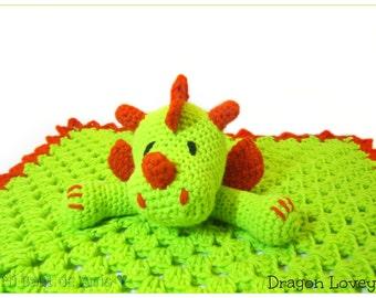 Dragon Crochet Lovey Blanket - MADE TO ORDER