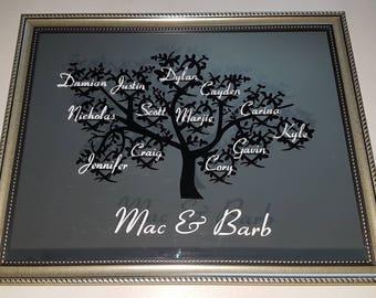 Beautiful Family Tree Mirror