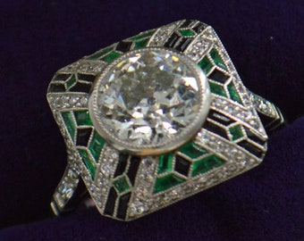 Rare Art deco engagement ring - MUST SEE!!!
