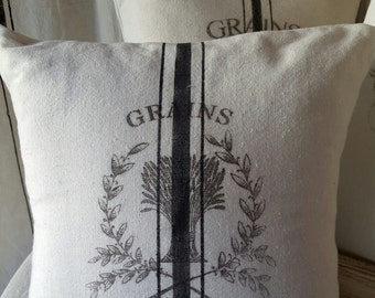 Grain sack inspired Pillow covers-Grains 1841 pattern