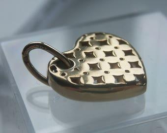 9ct 375 Gold Lattice Heart