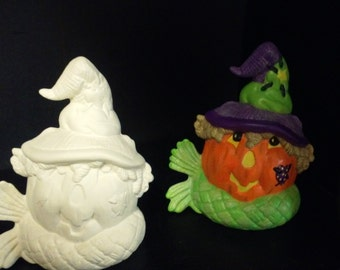 SALE  Was 7.50  Now 3.75  DIY or Finished Pumpkin Scarecrow (See Options & Description)