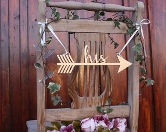 Bride and Groom Chair Signs - Bride's Chair - Wedding Chair Signs - Wedding Decor - Wedding Chair Decor - Bride and Groom - Wedding signs