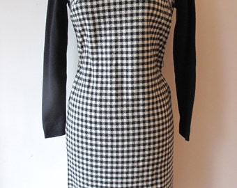 1960s Houndstooth Dress