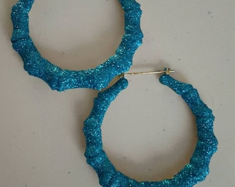 CRYSTAAAAL  bamboo earrings