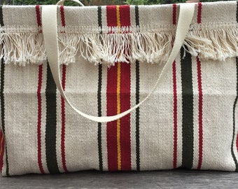 Thick stripes fabric Tote