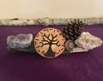 Burt Wood Tree and Amethyst Piece