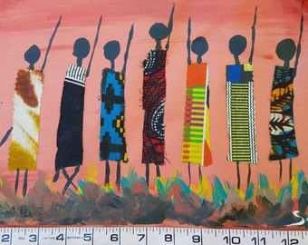 Ugandan Art - Mixed Media Locals