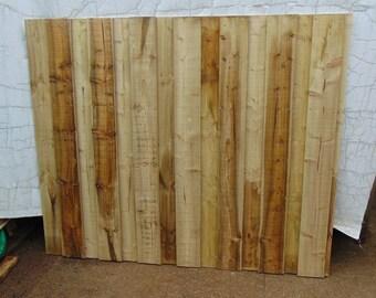 Wooden Garden Overlap Fencing - Flat Top Fence Panel