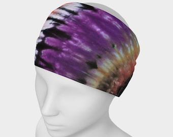 Tie Dye Headband - Hair Accessory - Scarf - Face Warmer - Versatile Accessory - Bandana - Purple Green Black Gold Orange