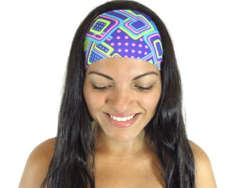 Running Headband Workout Headband Fitness Headband Yoga Headband Purple Headband Boho Headband Fashion Headband Wide Head Wrap Turban S215
