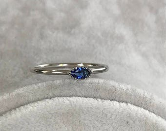 Rings, Sapphire Ring, White Gold Ring, Gold Ring, Engagement Ring, Wedding Ring, Promise Ring, Anniversary Ring, Stackable Ring, Bridal Ring
