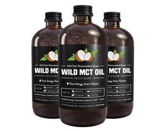 Wild MCT Oil - C8/C10 Blend 32oz Glass Bottle Made In US