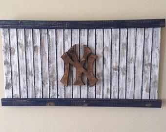 New York Yankees Wooden Flag