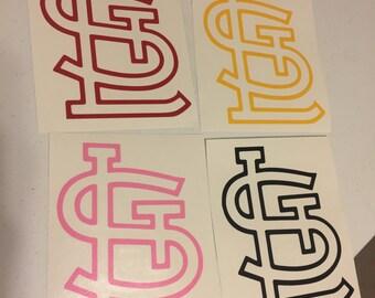 STL Logo Window Decal Saint Louis 12 Colors available