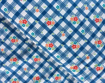Tablecloth in Blue Cotton Fabric from the Road Trip Collection by Riley Blake