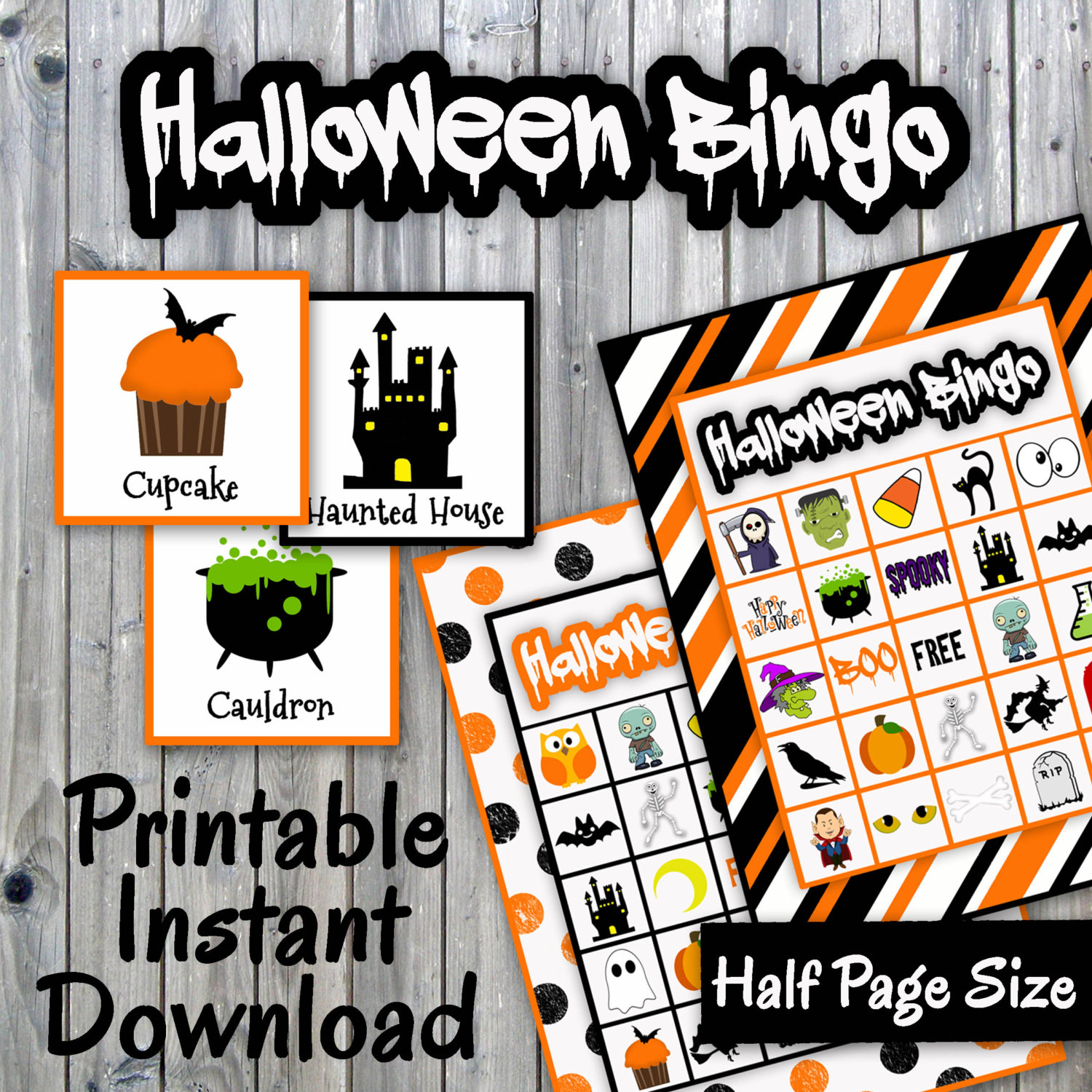 It is an image of Sweet 25 Printable Halloween Bingo Cards