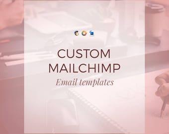 Custom Mailchimp Email Templates - Designs - HTML - Photoshop