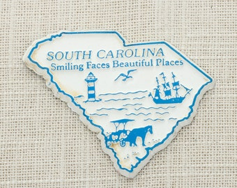 """Vintage South Carolina Silhouette State Magnet 