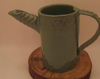 Hand Built Pottery Pitcher