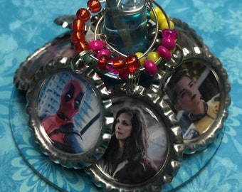 Deadpool Wine Charms set of 7 FREE US Shipping!