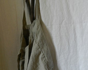 Handmade Linen Tote Bag / Beach Bag