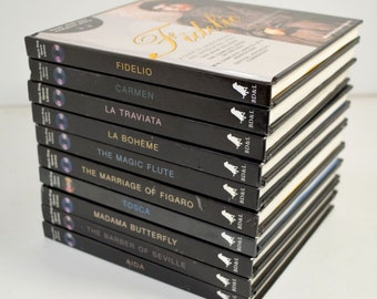Set of 10 Opera CDs with Booklets, Dialogue, Photos, Commentary, Black Dog Opera Library, Puccini, Verdi, Mozart, Rossini, Bizet, Beethoven