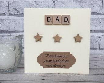 Scrabble Birthday Card, Dad Birthday Card, Scrabble Dad Card, Scrabble Birthday Card For Dad