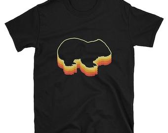 Wombat Shirt Vintage Rainbow 3d Gift T-Shirt