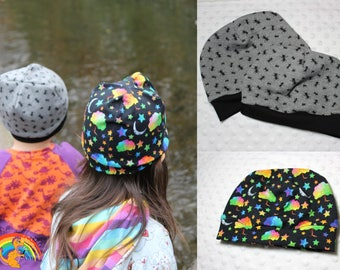 Childrens beanie, kids beanie, baby beanie, baby hat, toddler beanie, toddler hat. Ants fleece lined hat, Enchanted forest hat,