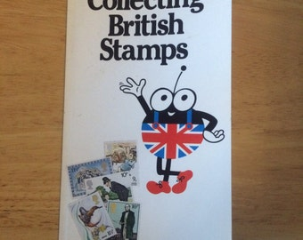 Vintage Book. Collecting British Stamps. Stamp Bug. Stamp Guide