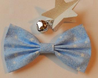 Light Blue with Stars hair bow Handmade Hair Accessory
