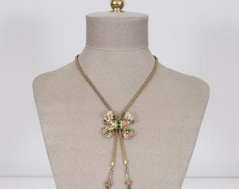 1940s vintage necklace / Coro necklace