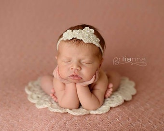 Doily prop blanket - newborn photography prop