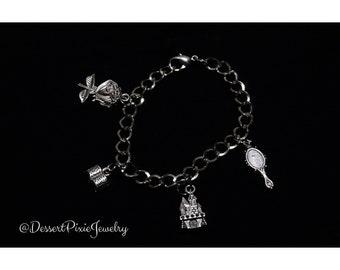 Beauty and the Beast Charm Bracelet/ Beauty and the Beast/Charm Bracelet