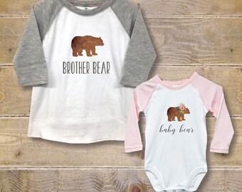 Big Brother Little Sister Shirts, New Big Brother, Baby Shower Gift, Big Brother Baby Sister, New Big Brother, Baby Bear Shirt