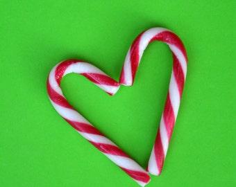 Candy Cane Heart Digital Print