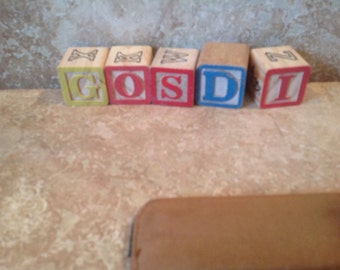 Set of 5 alphabet blocks