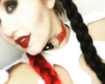 Harley Quinn Leather Choker