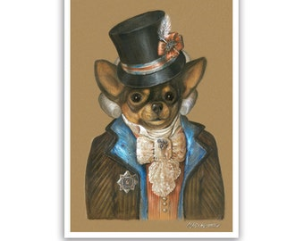 Chihuahua Art Print / Baby Dandy / Dog Lover Gifts & Wall Art / Dog Portraits by Animal Century