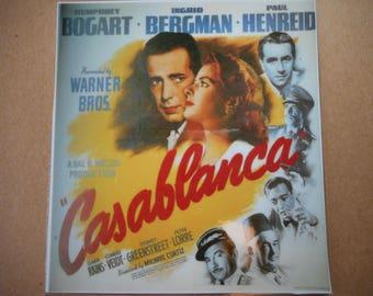 Magnet- Casablanca movie poster magnet Humphrey Bogart Ingrid Bergman Paul Henreid Warner Bros. Peter Lorre