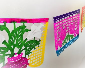 Mexican Papel Picado Hand Painted